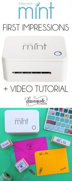 The Silhouette Mint ™ First Impressions and a How To Video | dawnnicoledesigns.com