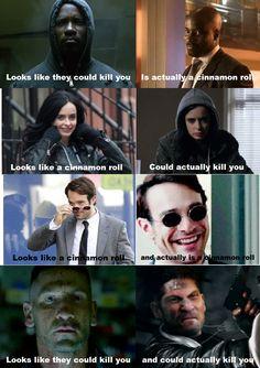 Marvel Netflix Series - Luke Cage, Jessica Jones, Daredevil, Punisher