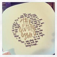 The giving plate! Facebook.com/ajonesofalltrades