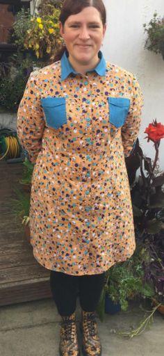 Herrison's Rosa shirt dress - sewing pattern by Tilly and the Buttons Shirt Dress Pattern, Tilly And The Buttons, Dress Sewing, Sewing Patterns, Shirts, Inspiration, Dresses, Style, Fashion