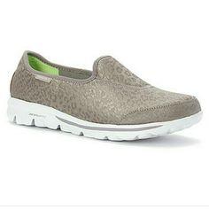 8a65a54159 SKECHERS go walk original shoes Grey cheetah print sketchers go walk shoes.  Size W10.