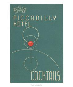 vintage cocktail menu prints