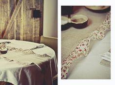 table runner made of linen fabric #aleworek #linen