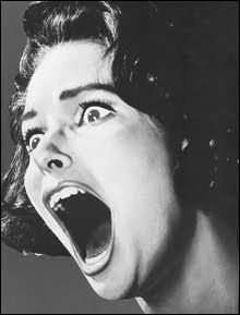 Screaming black and white