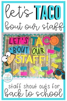 This staff shout out board is perfect for elementary, middle or high schools! Promote a sense of kindness and community at your school among teachers, staff, administration and faculty. Set this bulletin board up in the office, copy room, teacher's lounge, lunchroom, hallway, mailbox room, library...anywhere that everyone will see it on a regular basis! This is a great way to boost staff morale throughout the year.