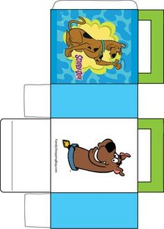 Scooby Himself Box, Scooby Doo, Favor Box - Free Printable Ideas from Family Shoppingbag.com