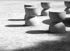Table OF Silence | Brancusi Constantin Brancusi, Outdoor Spaces, Outdoor Decor, Stepping Stones, Sculpture, Garden, Table, Home Decor, Outdoor Living Spaces