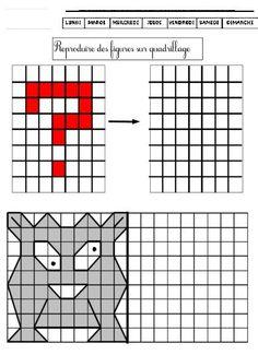 29 FICHES de géométrie CP CE1 Reproduire des figures sur quadrillage, aligner des points, tracer des traits à la règle, les solides, les polygones etc… | BLOG de Monsieur Mathieu GS CP CE1 CE2 CM1
