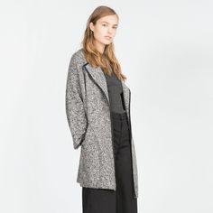 Zara Knit Coat With Vegan Leather Piping NWT/ No Trades/ No PayPal/ Size L Zara Jackets & Coats