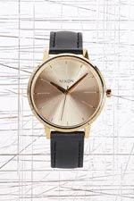 Nixon Kensington Leather Watch in Black at Urban Outfitters