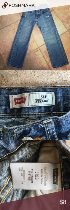 EEUC boy's Levis 515 size 6 EEUC boy's Levis 515 jeans. Size 6. Factory distressing under front pockets. Worn twice. Absolutely no visible wear. Levi's Jeans Straight Leg
