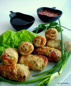 Pierogi, Fresh Rolls, Shrimp, Ethnic Recipes, Food, Cha Cha, Meal, Essen