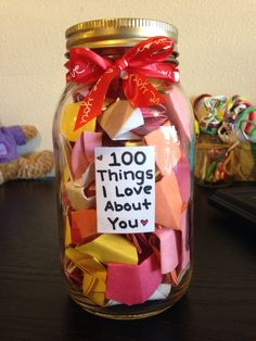 100 Things I Love About You - Valentines Gift