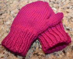 Child-Sized Mittens - easy as peas and perfectly adorable! Attach pom-poms at will!
