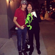 Life long friend and brother Geezer Butler and yours truly in Hollywood at his birthday dinner... Friday, July 18th, 2014.