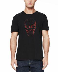 Short-Sleeve Skull Tee, Black  by Alexander McQueen at Neiman Marcus. $195
