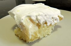 Just poke holes in a baked cake, and pour condensed milk on top.