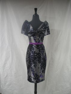 50s Inspired Off Shoulder Wiggle Dress with by shanelregier, $350.00