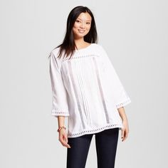 Women's Crochet Embellished Longsleeve Top - Simply by Love Scarlett : Target
