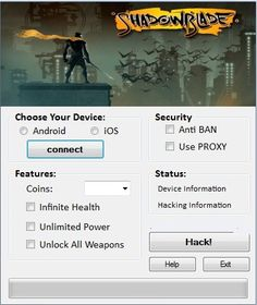 Shadow Blade Hack Tool Updated Cheats Engine Free Download