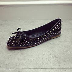 Chaussures Femme - Décontracté - Noir / Rose / Gris - Talon Plat - Bout Fermé - Plates - Similicuir