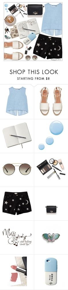 """""""Just chillin"""" by vespagirl ❤ liked on Polyvore featuring Steve J & Yoni P, Topshop, Prada, Borghese, Savannah, Lanvin, L. Erickson and Sigma"""