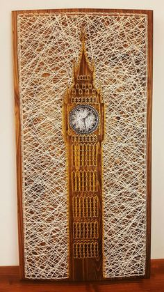 StringArt - London's Big Ben This classy design will bring a piece of London right in your home, 40×80 format with a record 1106 nails, it's perfect for large spaces that need that extra touch of color to really bring them together.