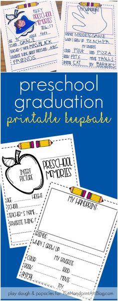 Preschool Graduation Printable Keepsake: Interview, School Picture & Handprint to remember all the details of your favorite preschooler!
