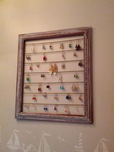 Earring Organization - DIY