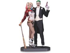 "*IN-STOCK* Harley Quinn & The Joker SUICIDE SQUAD 13"" Statue LTD by DC Collectibles"