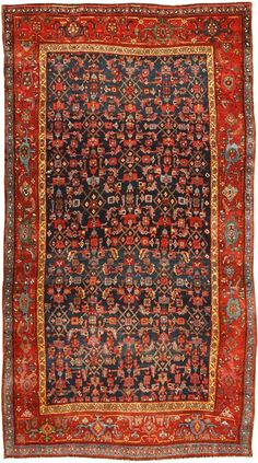 Antique Bidjar Persian Rug #41997 http://nazmiyalantiquerugs.com/antique-rugs/bidjar/