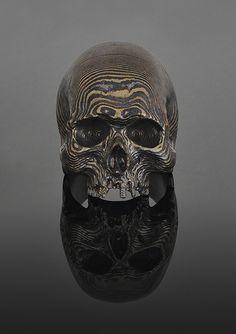 Mokume-Gane skull ring