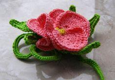 ❤ ❤  Flor  em Crochê  -  /   ❤ ❤  Flower Crochet -