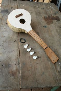 Make your own gourd ukulele