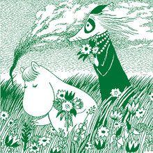 Wall mural - Moomin - Meadow Green