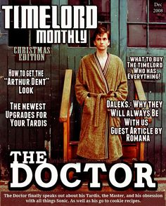"""I love the """"How to get the Arthur Dent Look"""" story. Even The Doctor needs a good Halloween costume."""