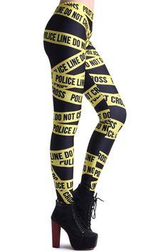 very elegant$19.98 Read More: http://newjewellery.net/trendy-police-line-black-leggings.html