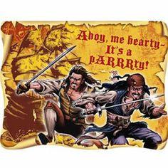 Pirates of the Caribbean Invitations