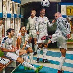Real Madrid legends - Raúl, Puskas, Di Stefano, Cristiano Ronaldo, Zidane - Mery J Kendy Club Football, Ronaldo Football, Football Is Life, Football Art, Goat Football, Messi Vs, Messi And Ronaldo, Ronaldo Juventus, Cristiano Ronaldo Cr7