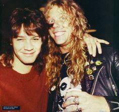 Eddie Van Halen and James Hetfield.................
