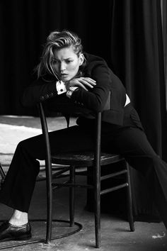 Kate Moss for Vogue Italia, January 2015  Photographed by: Peter Lindbergh                                                                                                                                                                                 More