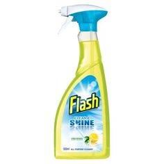 Flash Clean & Shine Crisp Lemons is the All Purpose Cleaner that offers you a universal solution for your entire home, so you don't need hundreds of cleaners under the sink #clean #save #discount