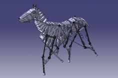 mechanical horse - CATIA, STEP / IGES, Other - 3D CAD model - An impressive mechanical horse, by KFZ-Schule, from GrabCAD.com