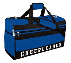 Buy the Chassé® Stability Duffle Bag for your cheerleading team and your squad will love this bag that fits all of your team's needs. Give your life balance with the bag's multiple pockets. Cheer Shoes, Cheerleading Uniforms, Duffel Bag, Travel Bags, Gym Bag, Stability, Shoe Bag, Cheer Bags, Stuff To Buy