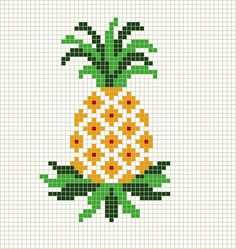 pineapple cross stitch chart