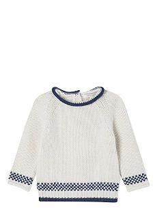 CARAMEL Snowflake wool jumper 12-24 months