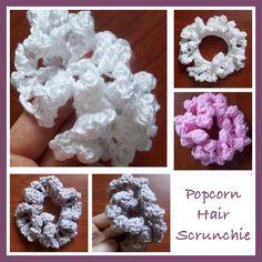 POPCORN HAIR SCRUNCHIE — From: http://crochetncrafts .com/popcorn-hair-scrunchie/