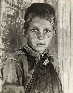 Eyes of the Great Depression: Twelve year old son of a cotton sharecropper near Cleveland, Mississippi. 1937 June. This young man looks so much like my dad. Dad would have been 10 years old. photographer: Dorothea Lange