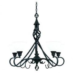 Corsica Chandelier - dark, Gothic lighting
