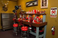 "Take a look at the NEWLY remodeled and very HORNADY ""RED"" reloading bench in the gun room at Shooting USA!"